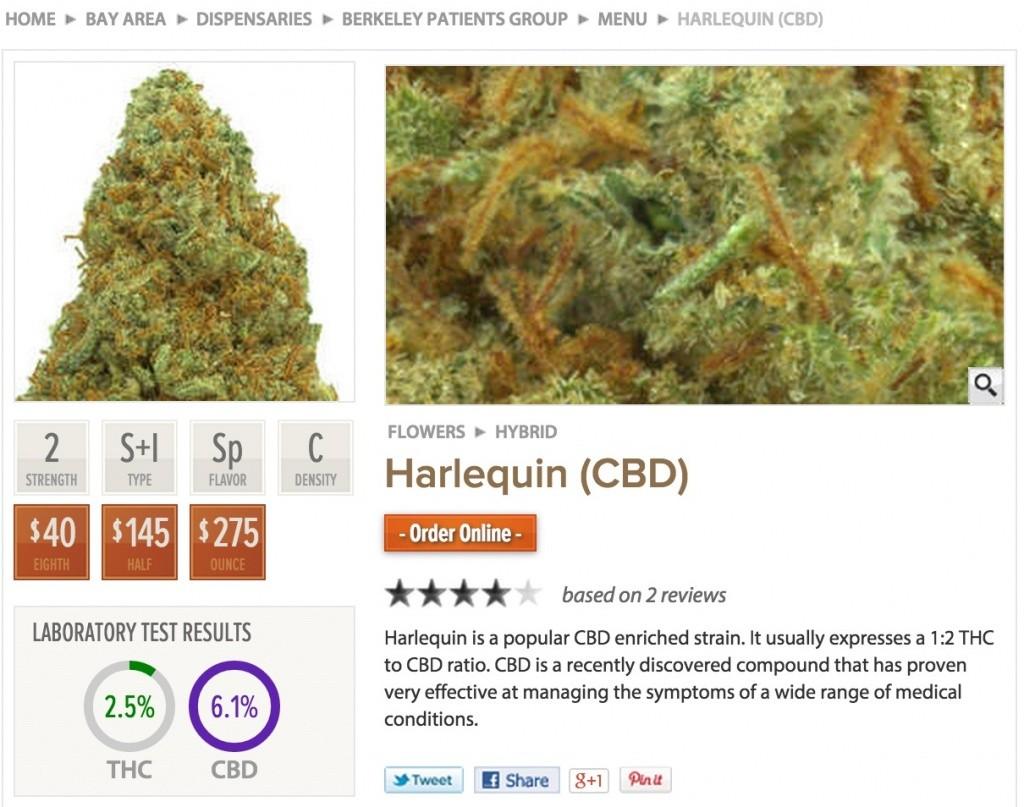 harlequin cbd 1024x807 Mild Strength Marijuana is the Future of Pot