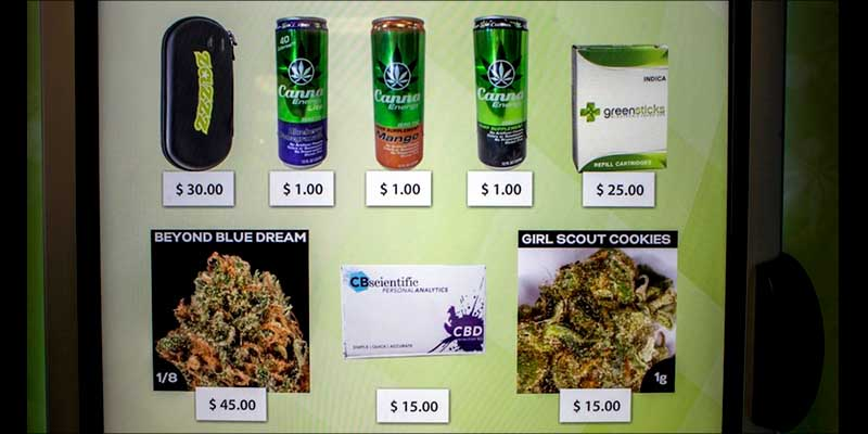MARIJUANA VENDING MACHINES 2 Weed brownies, drinkables and strains are now available in marijuana vending machines