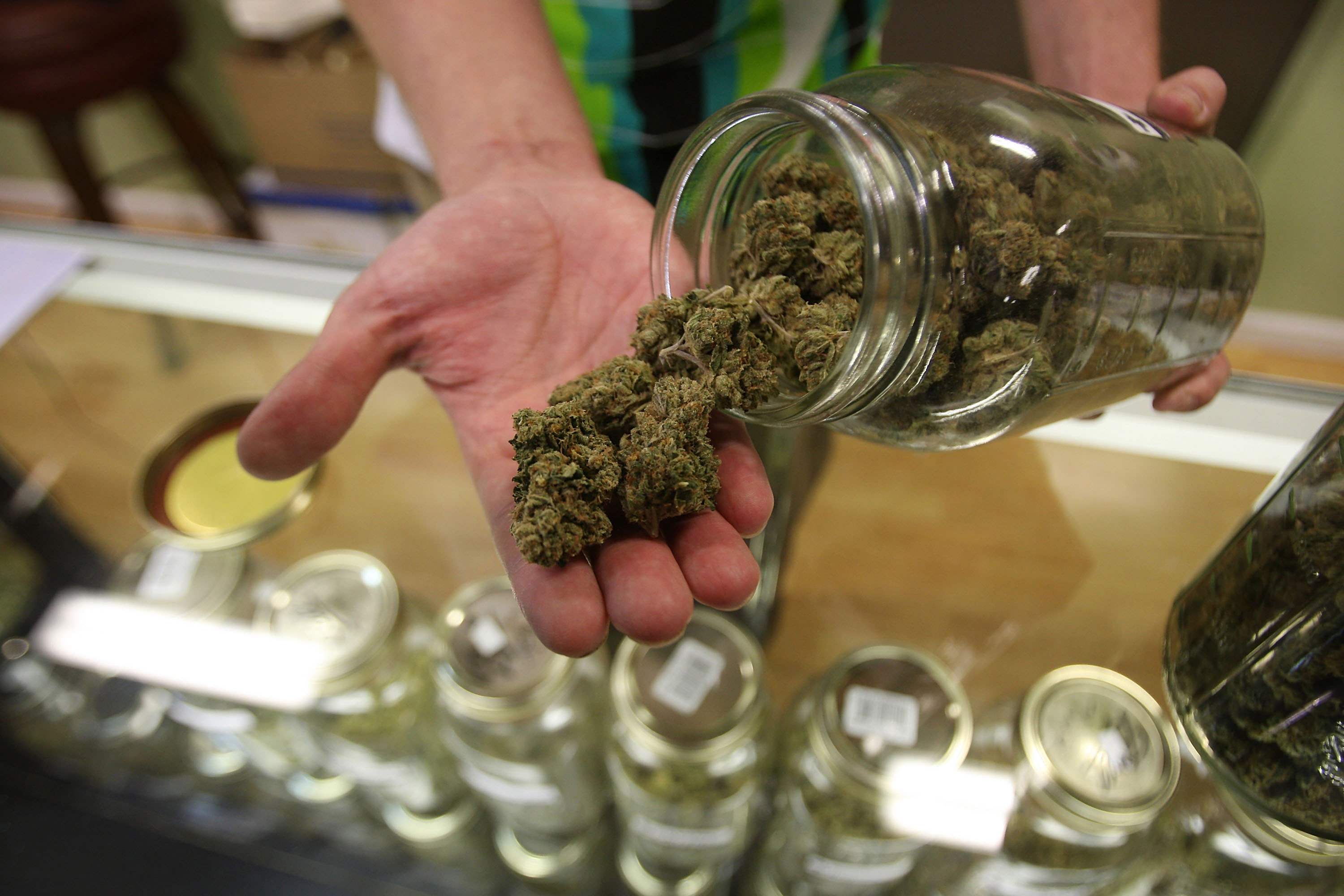 GettyImages 91997107 Legal Marijuana Dispensaries and Growers Are Still Being Denied Bank Accounts and Business Loans