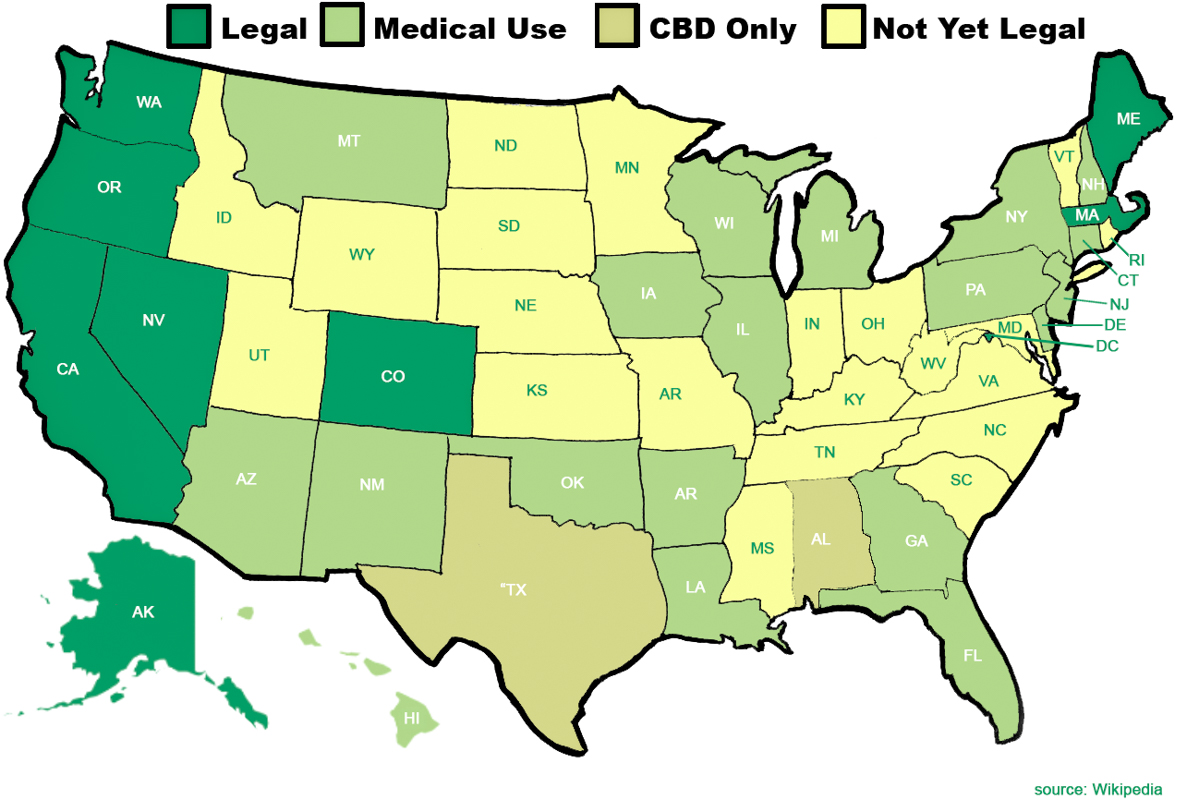 Where Is Marijuana Legal In The USA The Definitive Guide To Weed