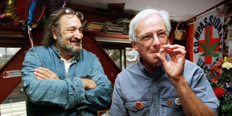 Dennis Peron Smoking a joint