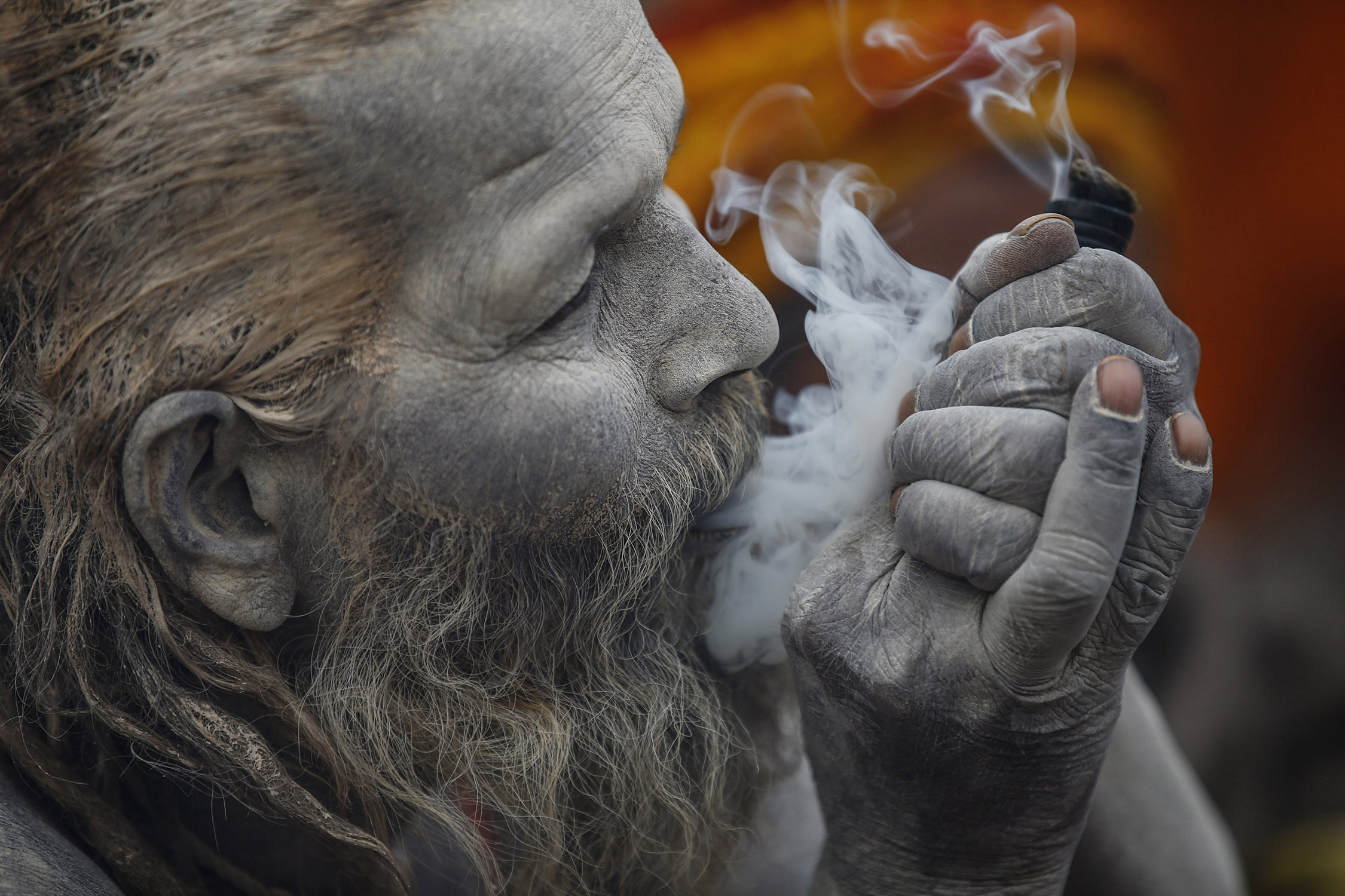 58W3979 Inside the festival in Nepal where smoking weed is holy