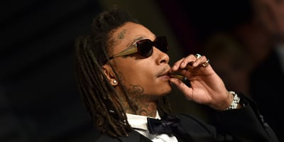 2018 Vanity Fair Oscar Party BEVERLY HILLS, CA - MARCH 04: Rapper Wiz Khalifa attends the 2018 Vanity Fair Oscar Party hosted by Radhika Jones at Wallis Annenberg Center for the Performing Arts on March 4, 2018 in Beverly Hills, California. (Photo by Axelle/Bauer-Griffin/FilmMagic)