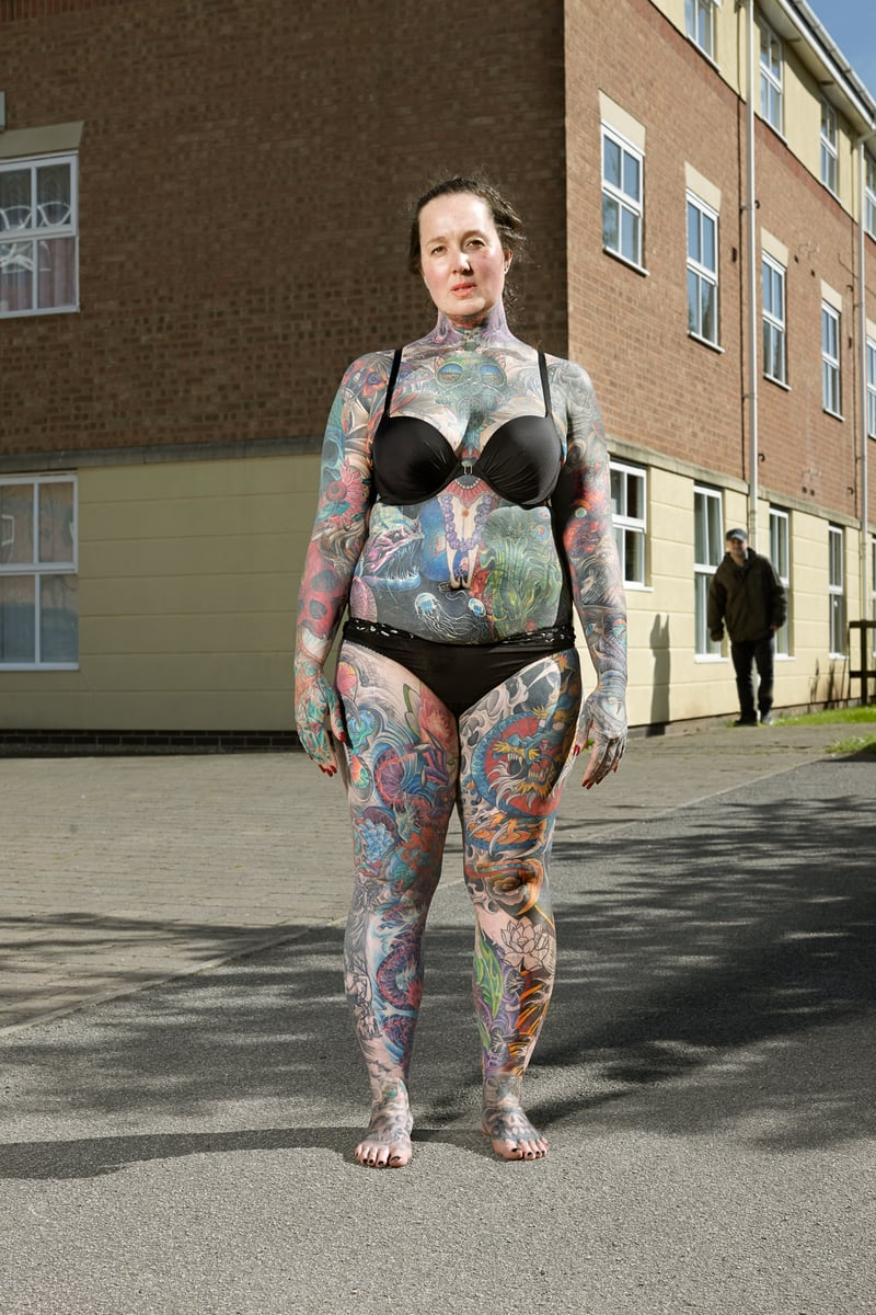 Alan Powdrill Raw Portraits Of The People Devoted To Full Body Tattoos 14 The bodies of the heavily tattooed: exposed