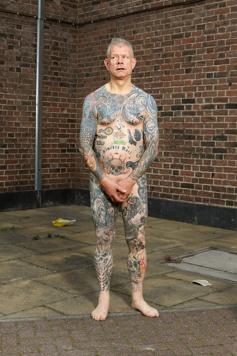 Alan Powdrill Raw Portraits Of The People Devoted To Full Body Tattoos 16 The bodies of the heavily tattooed: exposed
