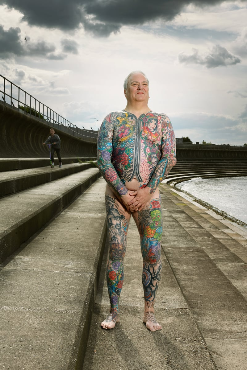 Alan Powdrill Raw Portraits Of The People Devoted To Full Body Tattoos 21 The bodies of the heavily tattooed: exposed