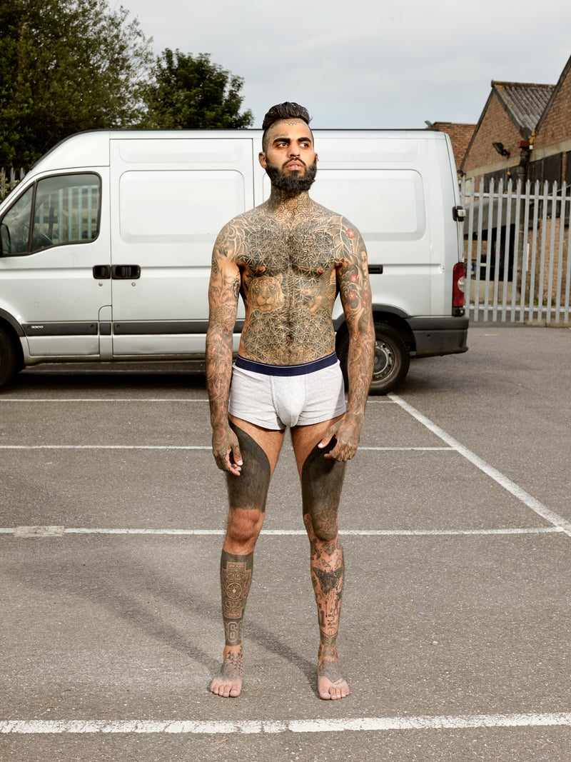 Alan Powdrill Raw Portraits Of The People Devoted To Full Body Tattoos 22 The bodies of the heavily tattooed: exposed