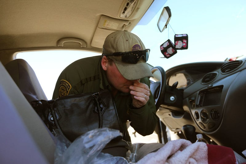 BorderAgent Border patrol officers unconstitutionally used immigration checkpoints to seize pot