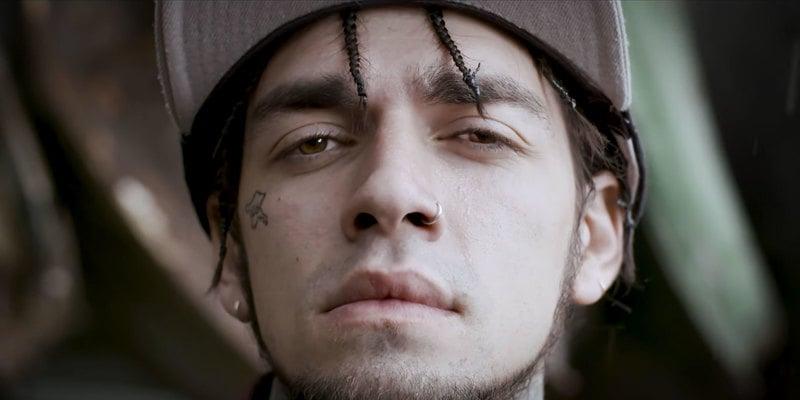 Portrait of Turkish rapper Ezhel