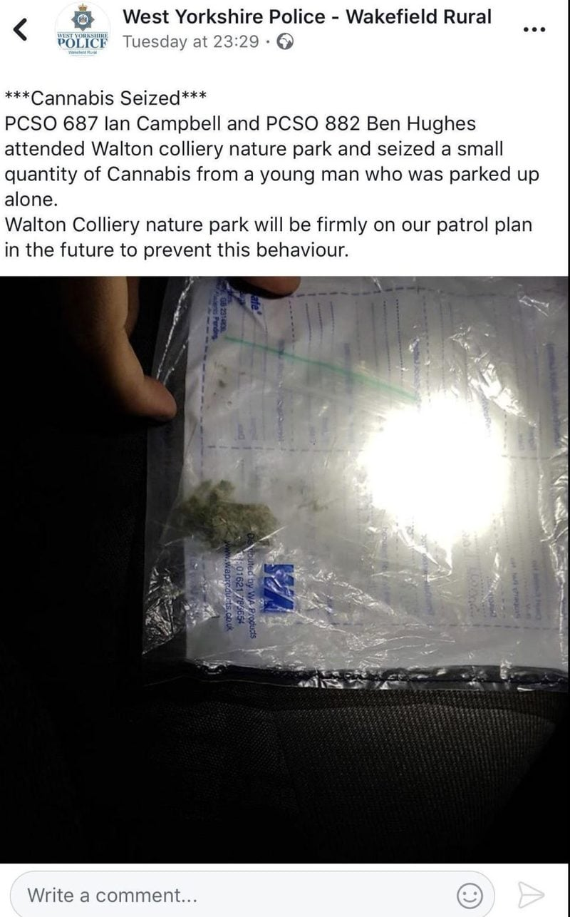 jdnjbwd British Police Threaten To Arrest People For Making Fun Of Their Tiny Weed Bust